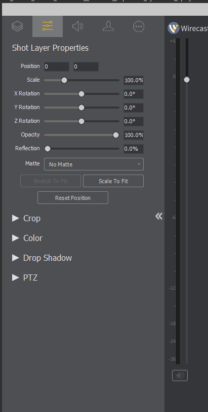 Wirecast layer transform